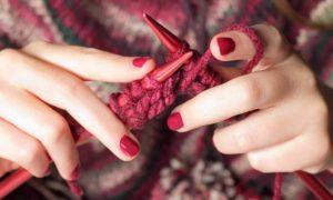 healthy hobbies hands knitting
