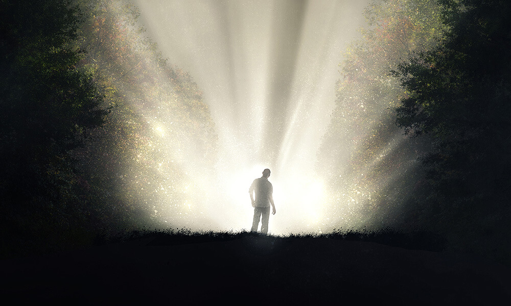 Man standing in front of light overview of sexual addiction